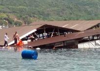 Sập nhà hàng nổi ở Ninh Thuận, ít nhất 2 người thiệt mạng