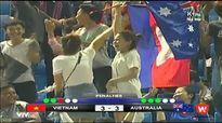 Cổ động viên Campuchia cổ vũ, ăn mừng điên cuồng với U16 Australia