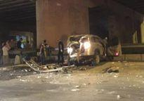 Xe Captiva rơi từ đường trên cao xuống đất, tài xế tử vong