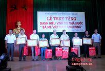 Quỳnh Lưu: Truy tặng danh hiệu cho 7 Bà mẹ Việt Nam Anh hùng