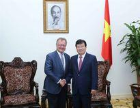 Phó Thủ tướng Trịnh Đình Dũng tiếp Giáo sư Đại học Havard