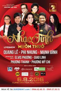 """Quang Lê – Phi Nhung – Mạnh Đình làm liveshow """"Nhạc tình muôn thuở"""""""