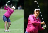 """Bà bầu 7 tháng """"bụng to vượt mặt"""" vẫn chơi golf cực ngầu"""