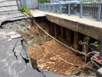 TP HCM: Sụt lún nghiêm trọng trên đường Trường Sa