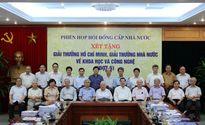 Họp hội đồng xét Giải thưởng Hồ Chí Minh, Giải thưởng Nhà nước về KH&CN