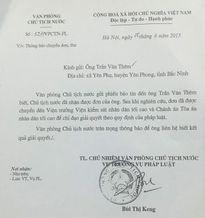 Nguyên Chủ tịch nước Trương Tấn Sang đã xử lý đơn kêu oan của ông Thêm