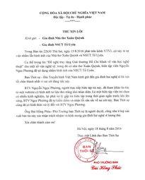 VTV gửi thư xin lỗi gia đình nhà thơ Xuân Quỳnh vì đăng nhầm ảnh