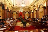 Chủ tịch nước Trần Đại Quang đón tiếp các chức sắc tôn giáo