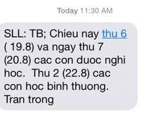 Nhiều trường học tại Hà Nội cho học sinh nghỉ học do bão