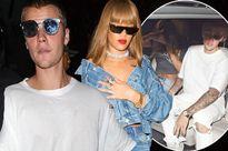 Justin Bieber thoải mái tiệc tùng bên Rihanna sau tin đồn mua bảo hiểm 'của quý'