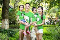 """Mê mẩn với hai vườn rau xanh mướt của gia đình """"Vàng Anh"""" Minh Hương và Hoàng Thùy Linh"""