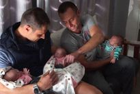 Kỳ tích sinh ba của cặp đồng tính nam ở Nam Phi