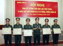 Quân khu 9 tổng kết 10 năm Luật Quốc phòng