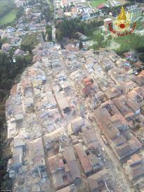 Hình ảnh miền trung nước Ý tan hoang vì động đất