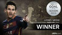 Siêu phẩm của Messi nhận giải bàn thắng đẹp nhất mùa 2015/16