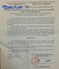 Cơ quan chức năng Tuyên Quang phản hồi vụ: Cô giáo mầm non đạp gãy xương đùi cháu nhỏ 3 tuổi