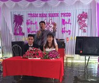 Đám cưới ngập nước của cặp 9X Hải Dương