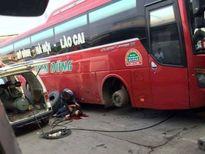 Bơm lốp xe bị nổ, 1 công nhân bị thương nặng
