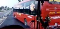 Xe khách chặn đầu 'đối thủ' trên QL1, 40 hành khách hoảng loạn