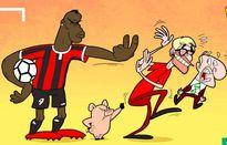 Hí họa Jose Mourinho đấm vỡ mặt Arsene Wenger