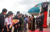 Chủ tịch Quốc hội đến Thủ đô Phnom Penh, Campuchia