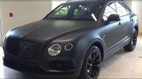 SUV siêu sang Bentley Bentayga màu đen nhám có 1 không 2
