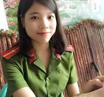 Nữ cảnh sát 9X xinh đẹp được thăng hàm vượt cấp