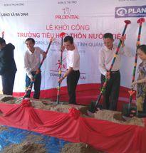 Prudential khởi công xây mới Trường Tiểu học Nước Tiên với kinh phí hơn 1 tỷ đồng