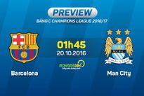 Barca vs Man City (1h45 ngày 20/10): Ngày về sầu thảm của Pep