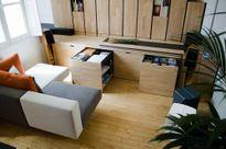 Thiết kế căn hộ nhỏ, linh hoạt trên tầng 2 tòa nhà bằng đá