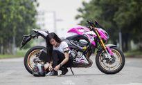 Bóng hồng Việt 'nài cứng' Kawasaki Z800 Hello Kitty