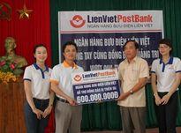 CĐ Ngân hàng Bưu điện Liên Việt: Hỗ trợ 600 triệu đồng cho đồng bào bị thiệt hại do thiên tai tại Quảng Trị