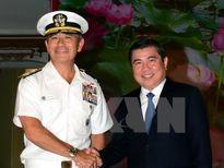 Lãnh đạo TP.HCM tiếp Tư lệnh Bộ Chỉ huy Thái Bình Dương