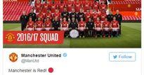 Man Utd chụp hình toàn đội nhưng vắng Schweinsteiger