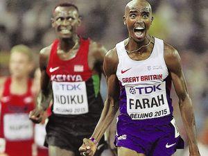 Mo Farah lần thứ 3 lập cú đúp ở giải điền kinh thế giới