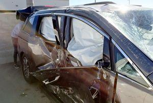 Hà Kiều Anh bị tai nạn xe hơi nghiêm trọng khi chờ sinh con