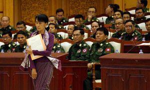 Quân đội Myanmar chống lại việc bà Aung San Suu Kyi trở thành tổng thống