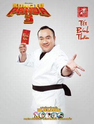 Lạ mắt với bộ ảnh dàn sao Kung Fu Panda 3 chúc tết khán giả Việt Nam