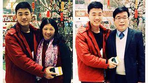 Xuân Trường chúc Tết cho gia đình từ Hàn Quốc
