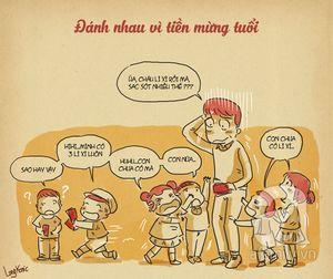 Những tình huống nhận mừng tuổi vô tư của trẻ khiến bố mẹ 'đỏ mặt'