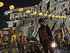Bé 3 tháng tuổi người Việt kẹt trong tòa nhà sập ở Đài Loan