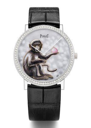 Tuyệt phẩm đồng hồ nạm khỉ vàng chào đón Bính Thân