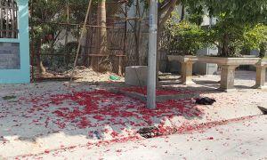 Quảng Ninh: Đỏ rực xác pháo sau đêm Giao thừa Tết Bính Thân
