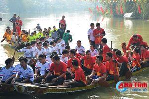 Tưng bừng Lễ hội Đua thuyền truyền thống Trung Lương