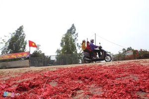 Xác pháo đỏ đường ở Vĩnh Phúc: Xử lý 6 trường hợp vi phạm