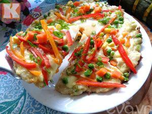 Bánh chưng thừa sau Tết làm pizza siêu ngon