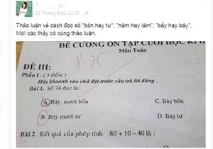 Thầy cô tranh cãi nảy lửa về cách đọc số trong bài toán lớp 1