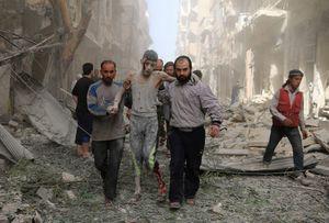 Ảnh không kích đẫm máu ở Syria chấn động nhất tuần