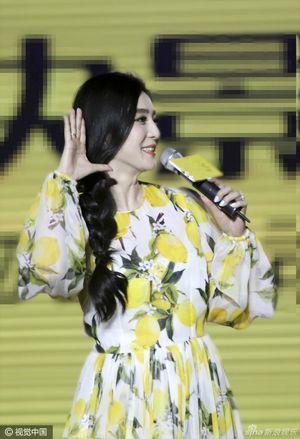 Phạm Băng Băng xinh đẹp khi diện váy hoa