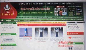 Đột nhập lò sản xuất máy lọc được 'made in USA' tại Nghệ An >>>Nghệ An: Dân tố công ty bán máy lọc nước không rõ nguồn gốc